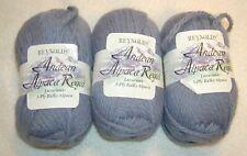 3 SKEINS-- Reynolds Andean Alpaca Regal -Bulky 3 ply -- #297 DUSTY BLUE  330 yds