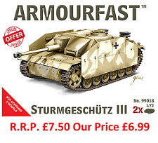 NEW Armourfast 1/72 Sturmgeschutz III  Model Kit - Contains 2 Tanks (13259)