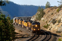 11x14 inch Union Pacific Print, Donner Pass, Mountains, American, Freight