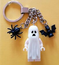 Lego Glow in the Dark Ghost Version Avec Chauve-souris et Spider Keychain NEW Halloween