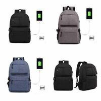 Anti-theft Unisex USB with Charger Port Backpack Multi-pocket Travel School Bag