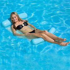 Cama Flotante Hamaca de agua silla con apoya pies Playa Piscina Inflable Drifter