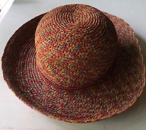 Helen Kaminski Women's Hat NWOT Red/Multi Raffia