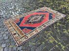 Turkish area rug, Vintage wool rug, Carpet, Handmade rug | 4,3 x 7,4 ft