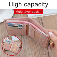 1x Women Short Small Money Purse Ladies Leather Folding Coin Card Holder Wallet