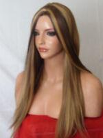 Fashion Women Long Hair Full Wig Poker Straight Synthetic Heat resist Wigs O