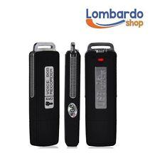 PEN DRIVE MINI REGISTRATORE VOCALE 8GB AUDIO VOICE USB DISK RECORDER MICROSPIA