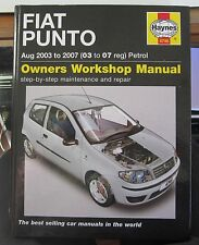 HAYNES CAR MANUAL 4746 ( FIAT PUNTO - 03 to 07 reg - Petrol ) GREAT CONDITION!!!