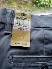 NWT - Dockers Straight Fit D2 Flat Front Gray Khaki Pants - 38W 34L