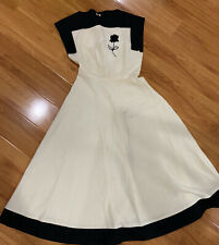 New listing Vintage Swing Dress Bundle 2-for-1! 40s 50s Vtg Day Dress Plaid Cream As Is
