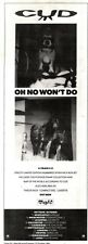 12/10/91 Pgn26 Advert: Cud oh No Wont Do The New 4 Track Single & Tour 15x5