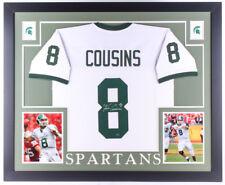 Kirk Cousins Signed Michigan State Spartans 35x43 Custom Framed Jersey (GTSM)