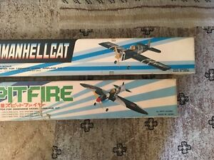 KMC U/C F6F Hellcat U/C, U/C Spitfire. Very nice Vintage made in Japan kits.