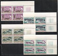 SEA LIFE, SEALS, DOLPHINS, WHALES, ST PIERRE & MIQUELON 1969 Sc 389-92 X 4 , MNH