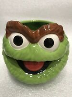 Sesame Street Oscar The Grouch Sculpted Ceramic 20oz Mug Brand New