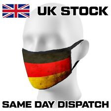 🔥🔥 Face Mask Germany Flag Reusable Adults Kids Washable Fun Facemask 6050