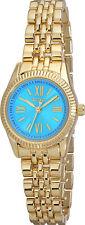 XOXO Watch Women's Watch XO5782 Turquoise Dial Gold Tone Bracelet Petite Watch