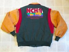 Vtg NCHA National Cutting Horse JACKET Men XL Association President Wool Varsity