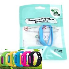Anti Mosquito Bug Insects Repellent Wrist Band Bracelets Deet Free Waterproof