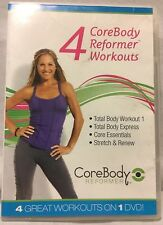 4 CoreBody Reformer workouts DVD Core Body fitness exercise Total Body Express