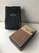 VINTAGE POCKET RADIO STAR-LITE  MW (AM) With Case FROM  1960S