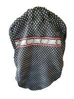 VERA BRADLEY Hanging Dress Garment Bag Vintage Black Pattern Red Lining