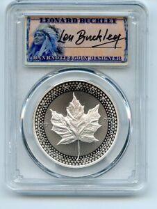 2019 $5 Silver Maple Leaf Modified Pride of 2 Nations PCGS PR70 Leonard Buckley