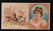 New listing Vtg Goodwin & Co Old Judge Games & Sports Series Card Chariot Race