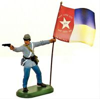 BRITAINS SUPER DEETAIL Civil War Toy Soldiers Confederate North Carolina Flag