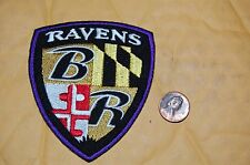 "Baltimore Ravens 3 1/2"" Shield Patch 1999-Present Alternate Logo Football"