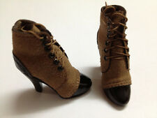 ZYToys1/6 Brown Short Boot with built in ball peg for hot toys female body