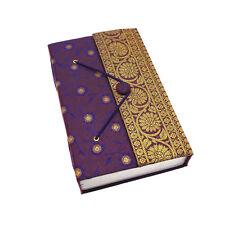 Commerce Équitable Fait À La Main Violet XL Sari Journal Carnet De Notes Agenda