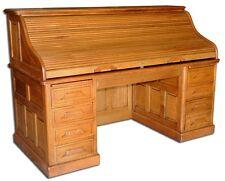 Fantastic Antique 19th C. American Oak Rolltop Desk #1638