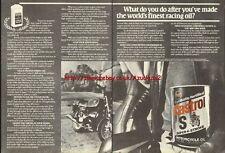 Castrol S Oil Motorcycle 1981 Magazine Advert #757