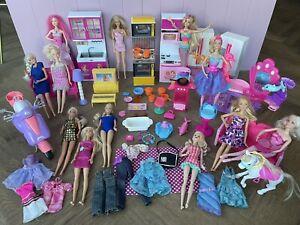 Barbie Bundle: Dolls Kitchen Mermaid Salon Clothing Accessories & More