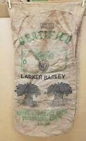 Vintage Minnesota Certified Seed Larker Barley Gunny Sack Burlap Seed Bag
