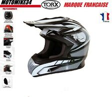 CASQUE GRIS  M moto enduro scooter quad dirt Homologué E9  CASCO HELMET