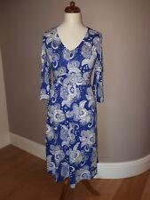 BODEN Blue White Louisa Jersey Wrap Dress SIZE 12 BNWT New originally £90
