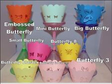BUTTERFLY THEME CUPCAKE WRAPPERS  x12 CHOOSE FROM MANY DESIGNS GREAT VALUE
