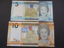 JERSEY UNCIRCULATED £10 AND £5 NOTES MINT JERSEY TEN POUNDS & FIVE POUNDS NOTES.