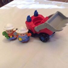 Eddie + Maggie Construction Workers + Bull Dozer Fisher Price Little People