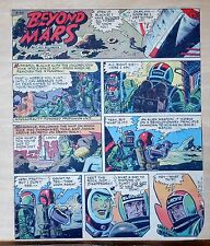 Beyond Mars by Jack Williamson - scarce full tab Sunday comic page Sept 20, 1953