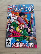 Bill & Ted's Exellent Comic Book 3 .(Movie) SIGNED . Marvel 1992 . FN / VF