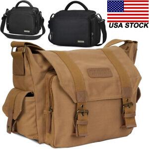 F1 Canvas D11 Sling Shoulder Camera Bag Backpack For Canon Nikon Sony DSLR SLR