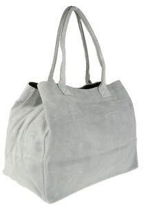Expandable Italian Genuine Suede Leather Shoulder Bag Vera Pelle Fashion Womens