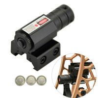 Tactical Red Dot Laser Sight Scope Mount Pistol Archery Bow Crossbow Slingshot