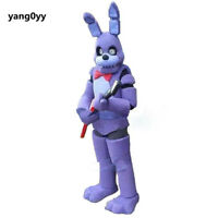 Cosplay Five Nights At Freddy'S Bonnie Mascot Costume Suit Party Dress Adults @