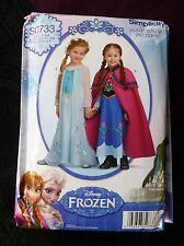 Disney Frozen Un-Cut Home Sewing Pattern Child Costume U.S. Size 3-8 Simplicity