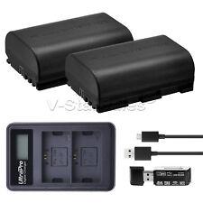 2x LP-E6 Replacement Battery + LED Dual Charger For Canon EOS 60D 70D 80D 7D 5D