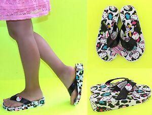 NWT Sanrio Hello Kitty Low EVA Wedge Flip Flops for GIRLS 11-12,13-1